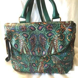 Emma & Sophia Paisley Foldover Backpack, NWOT